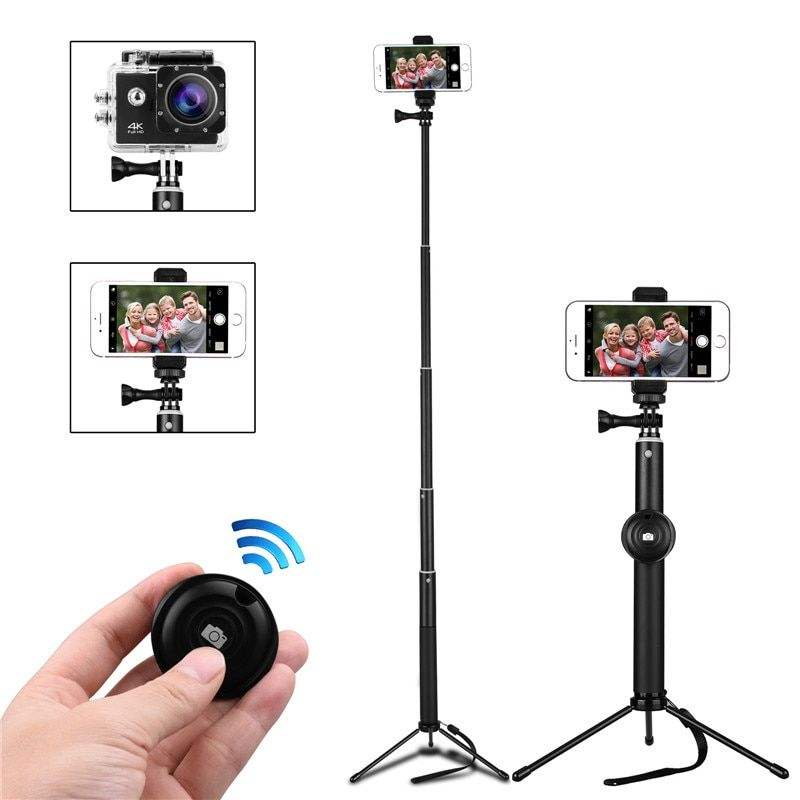 New Selfie Stick Tripod Handheld Monopod with Foldable Tripod Stand Wireless Remote Shutter for Phone Camera