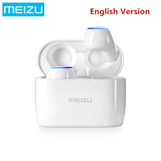 2018 Original Meizu POP TW50 True Wireless Bluetooth Earphone Mini TWS Sport Headset For Xiaomi iphone 7 8 Plus Samsung English