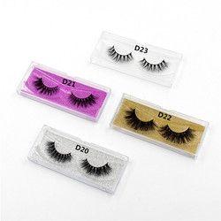 LEHUAMAO Mink Lashes 3D Mink False Eyelashes Long Lasting Lashes Natural Lightweight Mink Eyelashes Glitter Packaging New 1 Pair