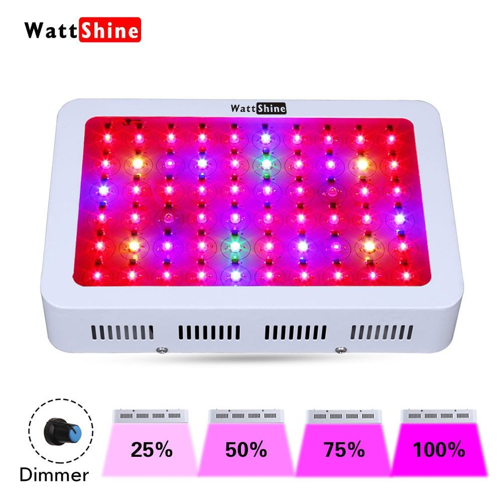 Dimmable 300W led plant grow light Double chips hydroponic systems Growth Greenhouse lighting growing plants indoors Lamp flower
