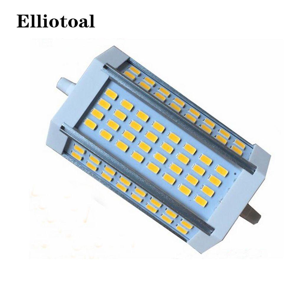 Dimmable R7S 30 W 118mm ampoule led R7S lumière J118 R7S lampe sans ventilateur remplacer lampe halogène AC110-240V blanc chaud blanc froid