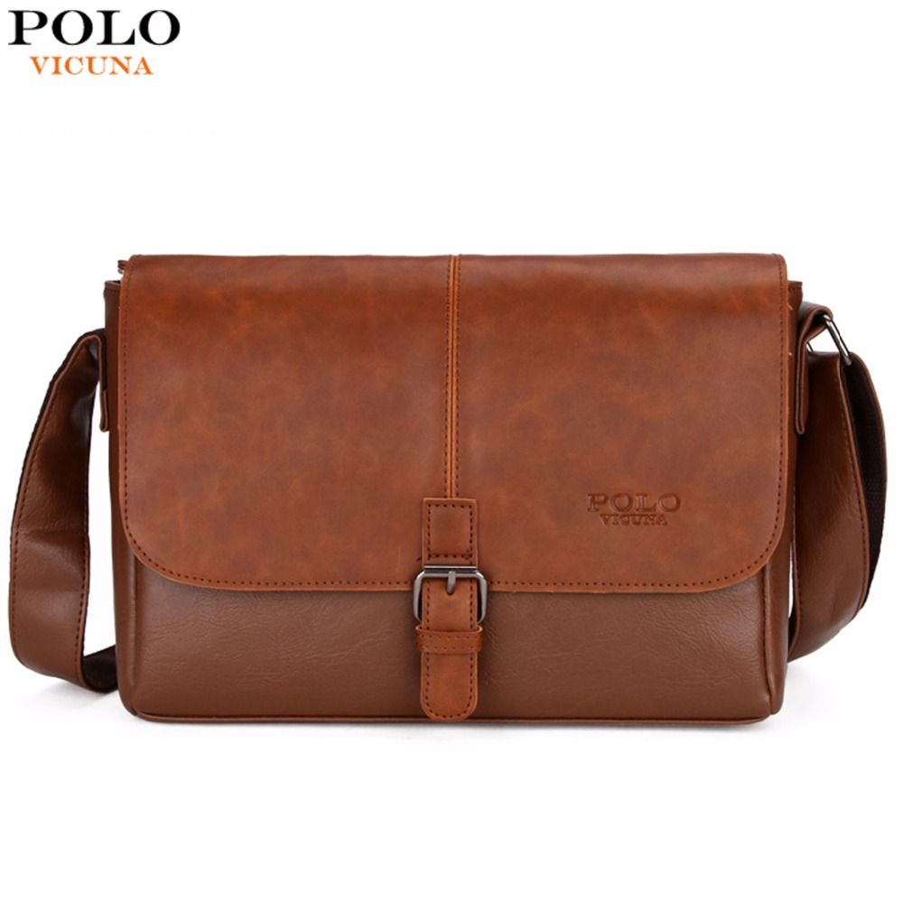VICUNA POLO Famous Brand Men's Shoulder Bag Magnetic Open Casual Trendy Men Crossbody Bag England Style Handbag sacoche homme
