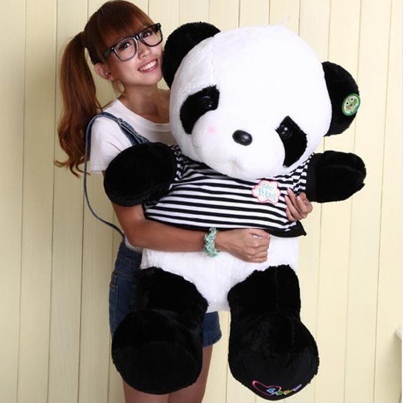Nouveau Beau Dessin Animé Panda En Peluche Jouet Animal Géant Pandas En Peluche Oreiller Poupée Beau Cadeau