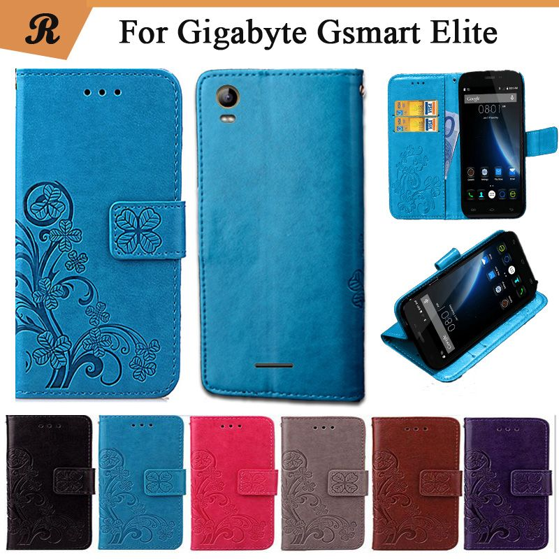 Newest For Gigabyte Gsmart Elite Factory Price Luxury Cool Printed Flower 100% Special PU Leather Flip case with Strap