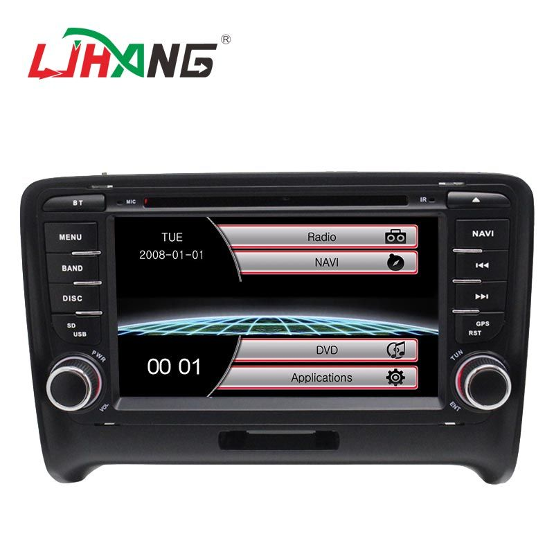 LJHANG 2 Din Auto DVD Player Für Audi TT 2006 2007 2008 2009 2010 2011 GPS Navigation Bluetooth Audio Stereo steuergerät USB RDS FM