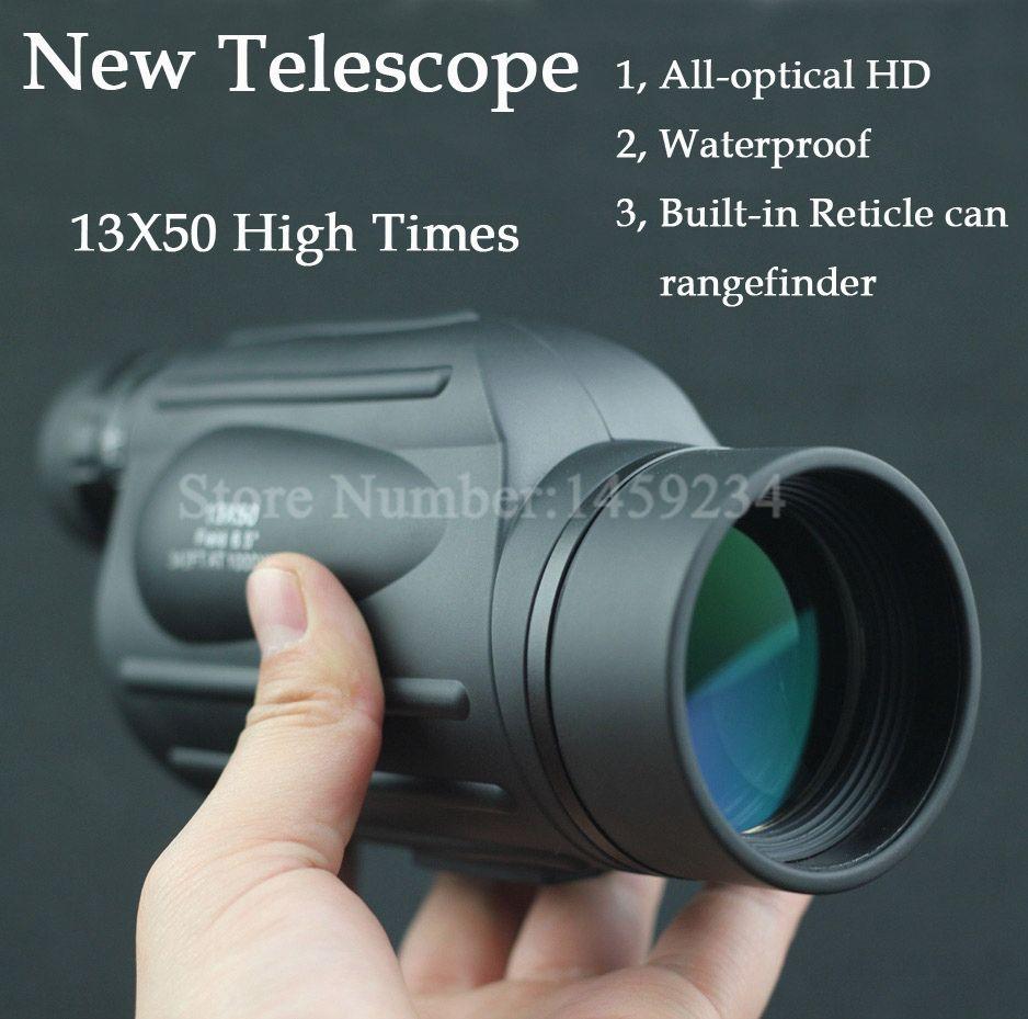 Nouveau temps forts étanche Gamme Finder télescope de Mesure De Distance FMC Monoculaire Télescope jumelles avec Réticule pour la chasse