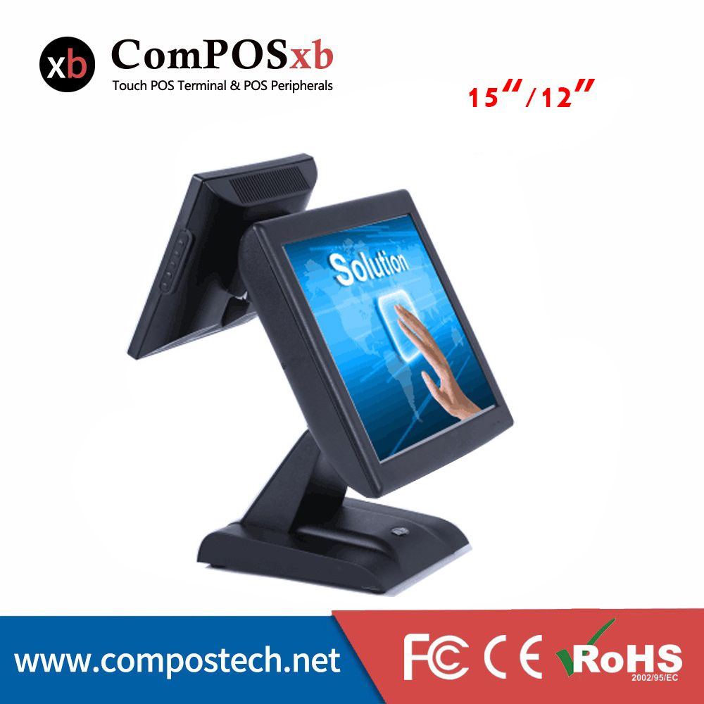 Top Selling 15 Inch Dual Screen Touch Screen Pos System Cash Register Cash Registers Cash Register All In One Pos Machines