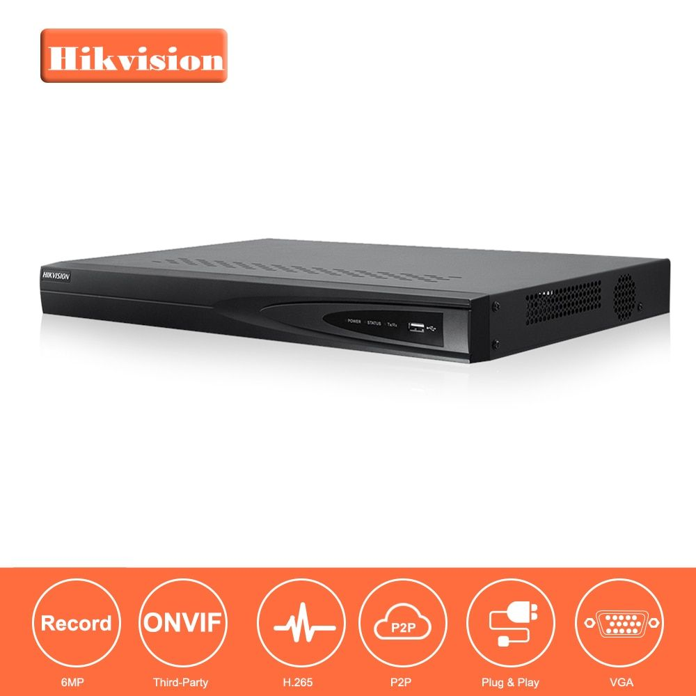 Hikvision CCTV System Onvif DS-7608NI-E2 8 Channel Embedded Plug & Play Network Video Recorder HDMI and VGA Output 2 SATA