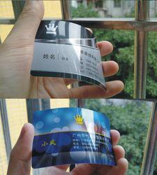 Brillant PVC cartes de visite impression à deux faces imprimées, 0.38 mm d'épaisseur, Top qualité, Meilleur prix + livraison gratuite