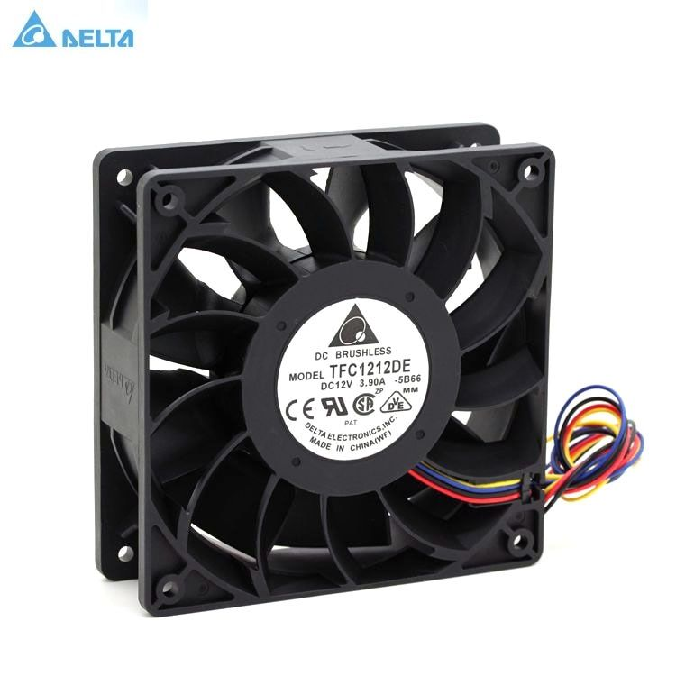 TFC1212DE Delta 120mm DC 12V 5200RPM 252CFM For Bitcoin Miner Powerful Server Case AXIAL cooling Fan