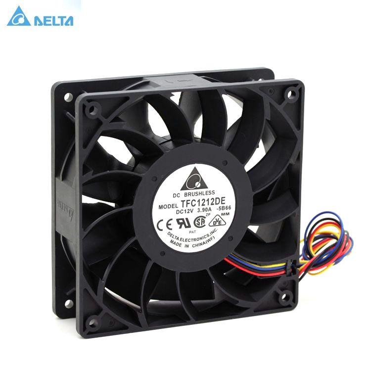 TFC1212DE Delta 120mm DC 12V 5200RPM 252CFM For Bitcoin Miner Powerful Server Case AXIAL cooling Fan