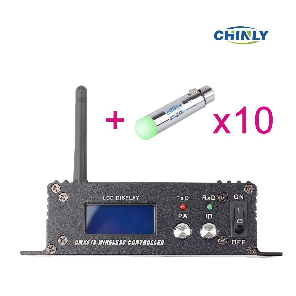 2.4G ISM DMX512 Wireless Female XLR Receiver LED Lighting Communication distance 400M for Stage PAR Party Light