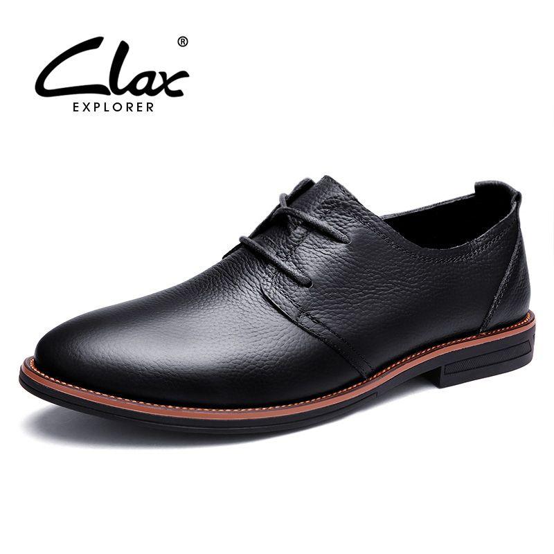 Clax Oxfords Männer Echtes Leder Marke Frühling Herbst herren Formale Lederschuhe Kleid Biritsh Vintage Retro Schuh Elegante Schuh