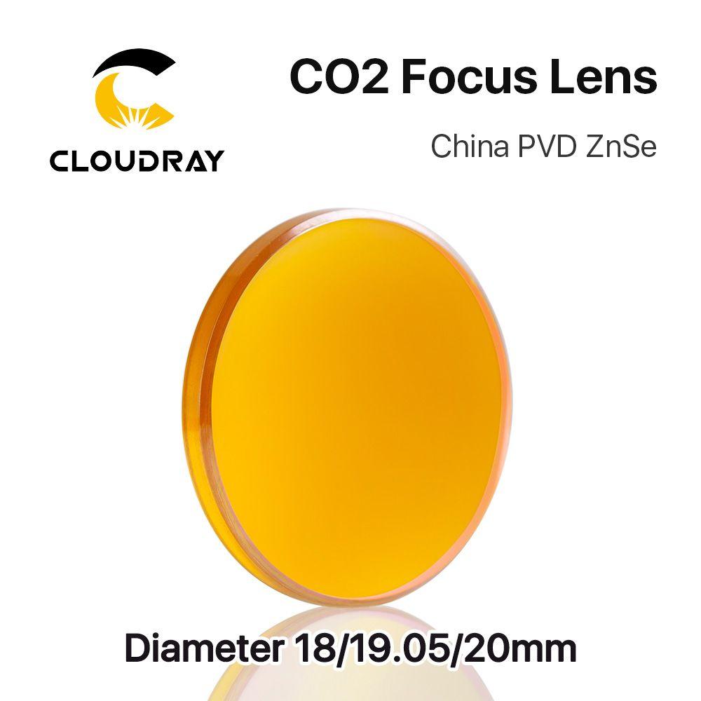 Cloudray Chine CO2 ZnSe Lentille de Focalisation Dia.18 19.05 20mm FL38.1 50.8 63.5 101.6 127mm 1.5-4 pour Machine de Découpe Laser De Gravure