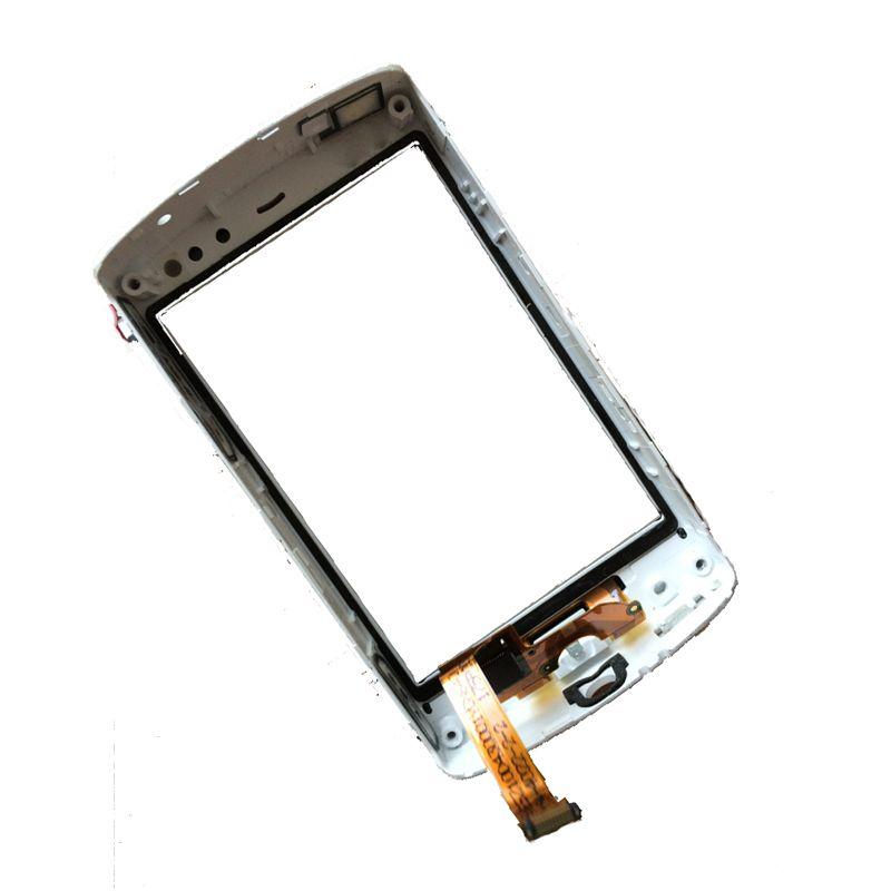Weiß Für Sony Ericsson Xperia Mini ST15 ST15i Digitizer Touchscreen-panel Glas mit Rahmen Lünette Ersatz