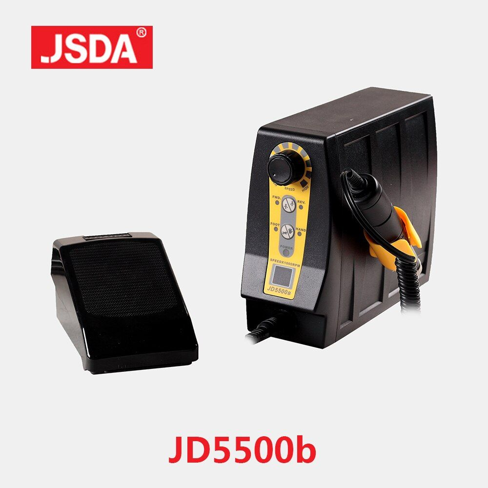 Heißer Verkauf JSDA JD5500B professionelle Bohrer Maschine Elektrische Maniküre Pediküre werkzeuge Nägel Kunst Ausrüstung LCD Display 85 w 35000 rpm