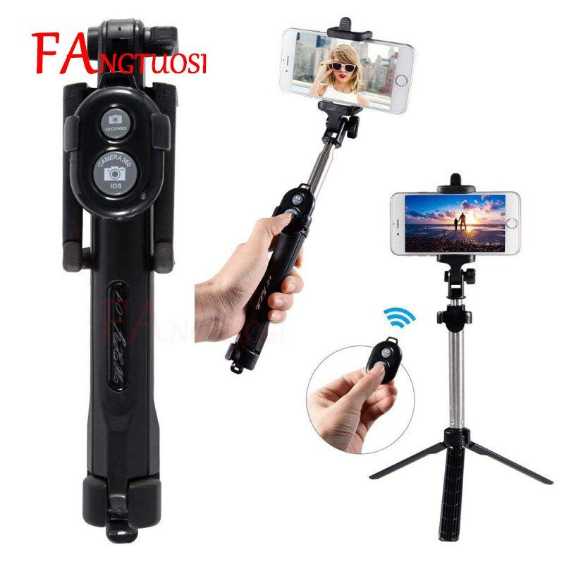 New 3 in 1 Wireless Bluetooth Selfie Stick + Mini Selfie Tripod with Remote Control For iPhone X 8 7 6s plus Portable Monopod