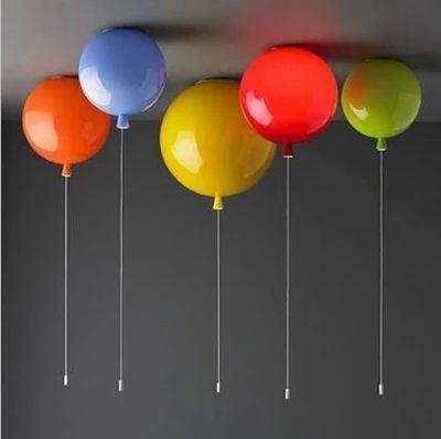Moderne enfant 6 couleurs ballon acrylique plafonnier luminaire maison déco enfants chambre E27 ampoule plafonniers avec interrupteur