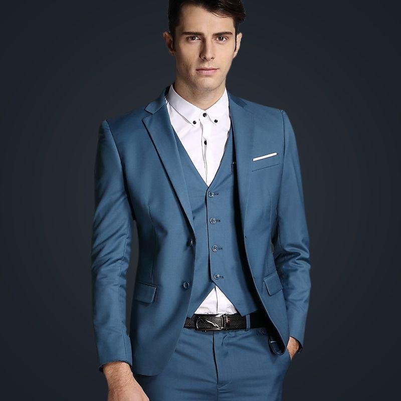 Лидирующий бренд классический элегантный джентльмен случайные Для мужчин костюм, 2017 новые поступления деловой Для мужчин блейзер + Штаны + ...