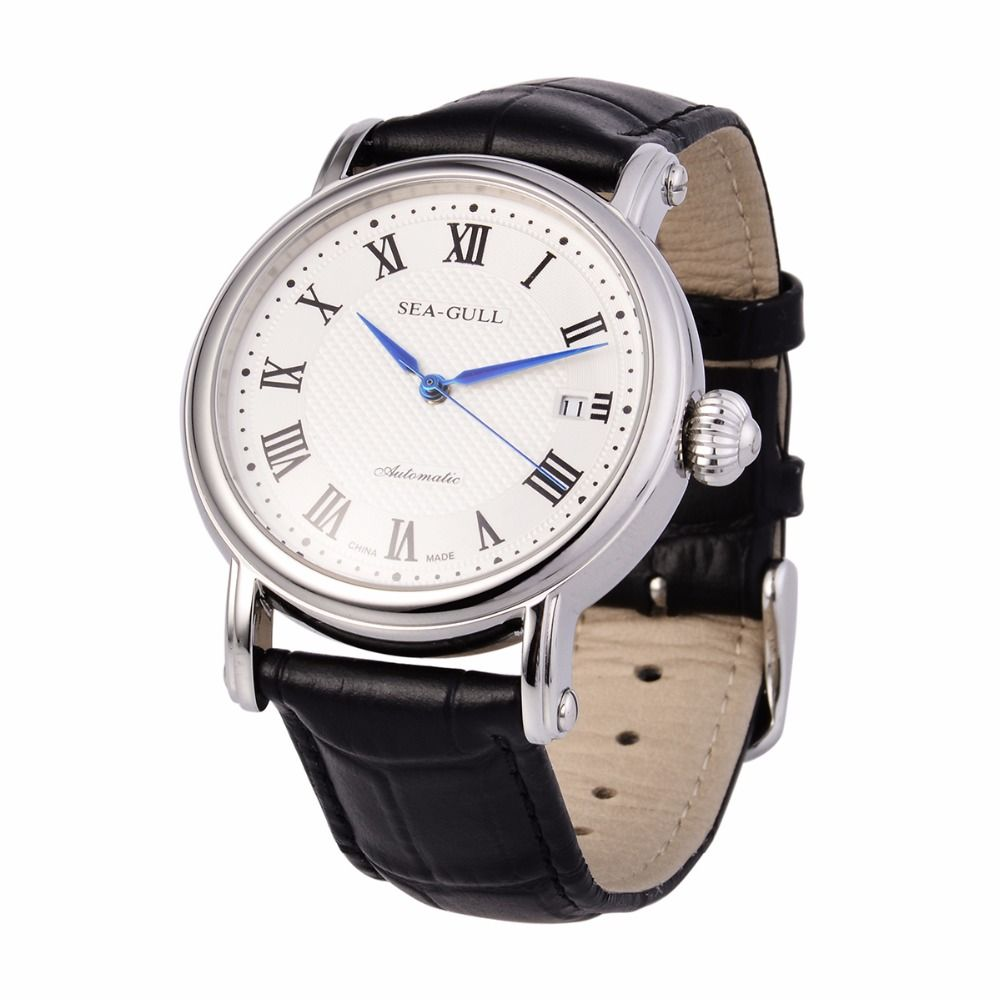 Leisure Automatic Mechanical Genuine Leather Waterproof Watch with Rome Digital Business for Various Occasions M186S