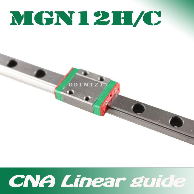 12mm Linéaire Guide MGN12 100 150 200 250 300 350 400 450 500 550 600 700mm linéaire rail + MGN12H ou MGN12C bloc 3d imprimante CNC