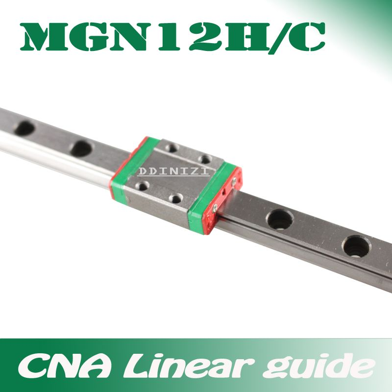 12mm Linear Guide MGN12 100 150 200 250 300 350 400 450 500 550 600 700 mm linear rail + MGN12H or MGN12C block 3d printer CNC