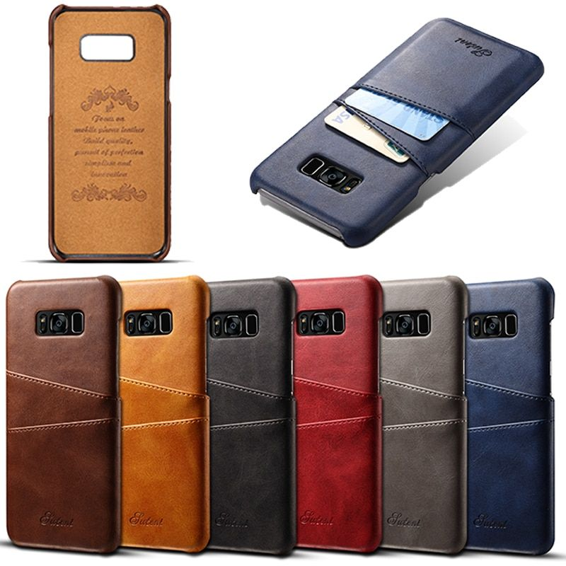 Case Cover For Samsung Galaxy S8 Case Capa Luxury Business PU Leather Phone Case For Galaxy S8 Cover Funda Coque With Card Slot