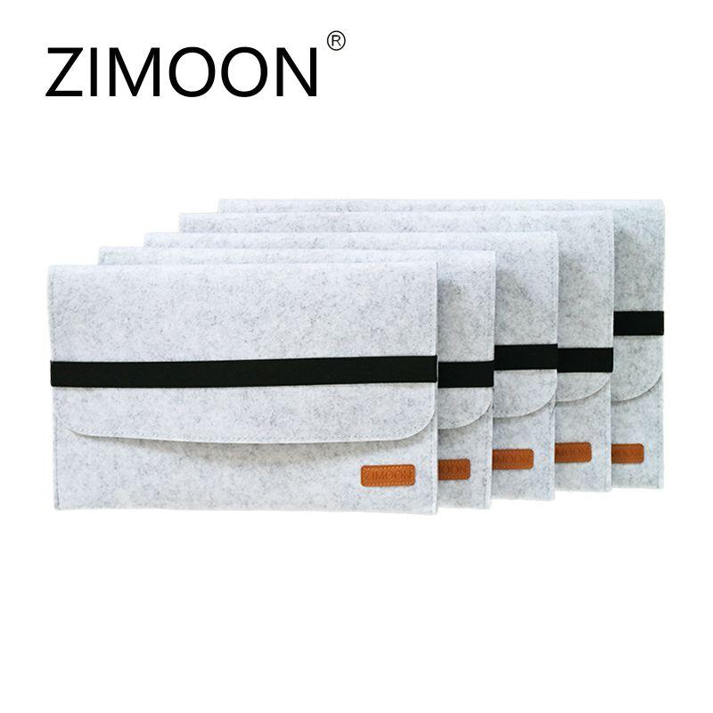 Zimoon Filz Laptophülsenbeutel Notebook Fall Computer Smart Cover Handtasche Für 11 13 15 macbook air pro retina