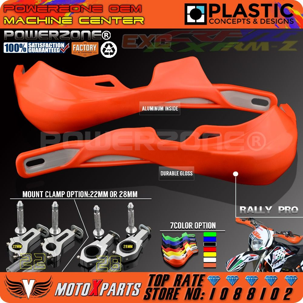 PowerZone Rally Pro Motorcycle Handguard Hand Guards Handguards Protector For KTM MX SX F Enduro EX C CRF YZF WRF KXF Motocross