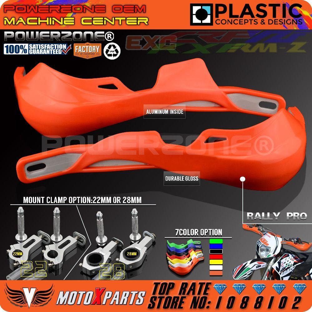 PowerZone Rally Pro Motorcycle Handguard Hand Guards Handguards Protector For KTM MX SX F Enduro EX C CRF YZF WRF KXF Motocross
