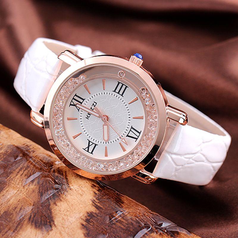 Kezzi cuero marca correa relojes mujeres vestido reloj Relogio señoras reloj relojes/Relojes de pared diseñador reloj del regalo del cuarzo de las señoras/ reloj.