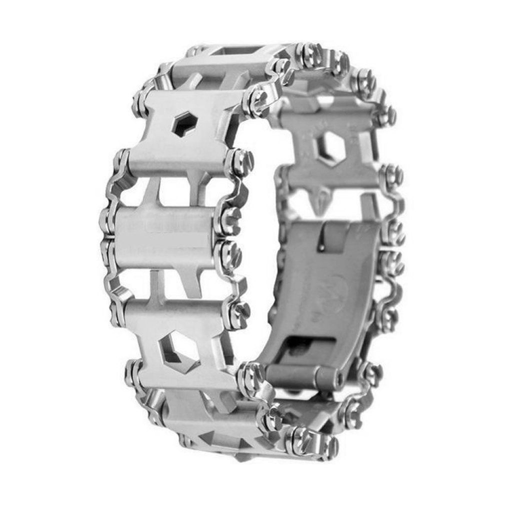 2018 Multifunction Stainless Steel Tread Bracelet Outdoor Bolt Driver Tools Kit Travel Friendly Wearable Multitool