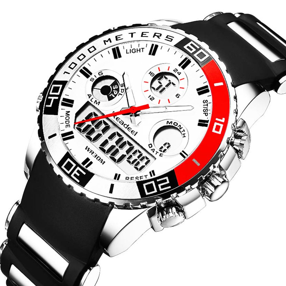 Top Brand Luxury Watches Men Rubber LED Digital Men's <font><b>Quartz</b></font> Watch Man Sports Army Military Wrist Watch erkek kol saati