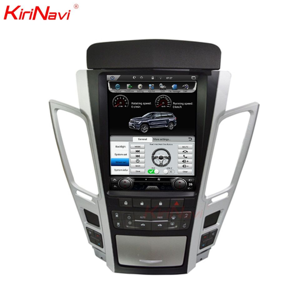 KiriNavi Android 8.1 2 Din Auto Radio Gps Navigation Für Cadillac CTS Auto Dvd Multimedia Player Automotivo Kopf Einheit 2007- 2012