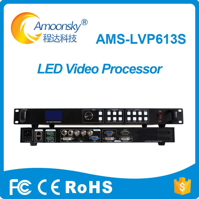 Amoonsky AMS-LVP613S Video Prozessor SDI Eingang mit Audio In und Out für LED projekt für led rgb display