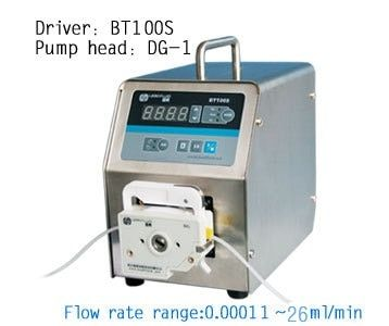 BT100S DG10-1 (10rollers) Lab Digital Display Peristaltic Pump Liquid Water Fluid Dosing Pumps 0.00011 to 20ml/min