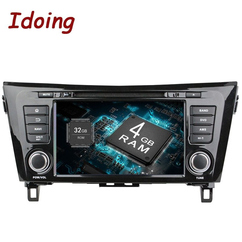 Idoing 2Din 8Android 8.0 Car DVD Radio Player Fit Nissan qashqai/X-Trail 2014 GPS Navigation 8 Core 4G+32G WIFI Bluetooth TV