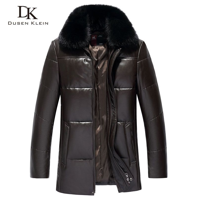 Männer Echte Leder Unten Jacke Winter Warme Kurz Mantel Schwarz Oberbekleidung Schaffell 2018 Neue Designer Marke Luxus S18001