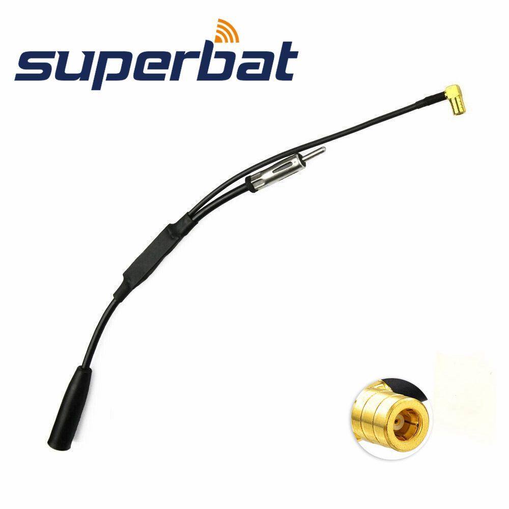 Superbat DAB DAB + antenne FM/AM à DAB voiture Radio convertisseur aérien/séparateur SMB mâle à Angle droit connecteur pour autoroute Sony Radio