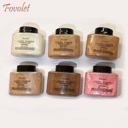 Fovolet 42 g/boîte new banana poudre maquillage poudre libre maquillage cosmétique