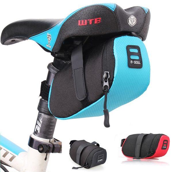 Vélo vélo selle siège sac vélo étanche 600D Nylon stockage selle sac siège cyclisme queue arrière poche noir/rouge/bleu