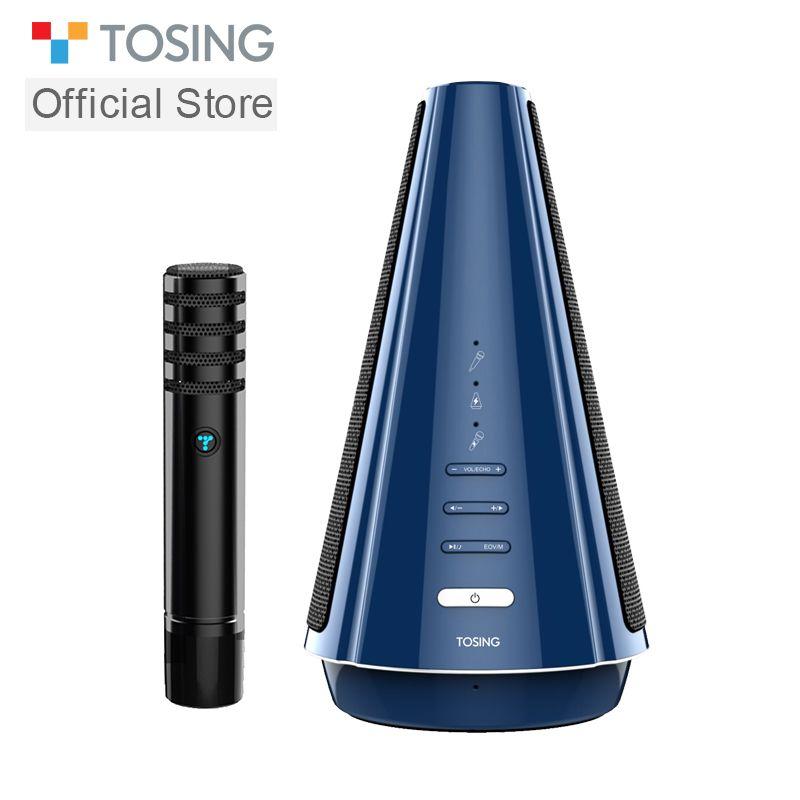 TOSING T08 Wireless Karaoke Mikrofon Bluetooth Lautsprecher Separat Entwickelt 3D Stereo 20 W Audio für Tagungen und Kleine Meetings