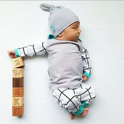 2018 autumn style baby boy clothing sets cotton long sleeve infant 3pcs suit baby boys clothes newborn toddler outfits