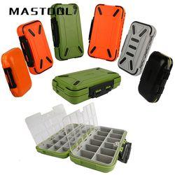 Высококачественный Мини двухслойный жесткий пластиковый контейнер для рыбалки, чехол для инструментов, аксессуары, ящик для инструментов