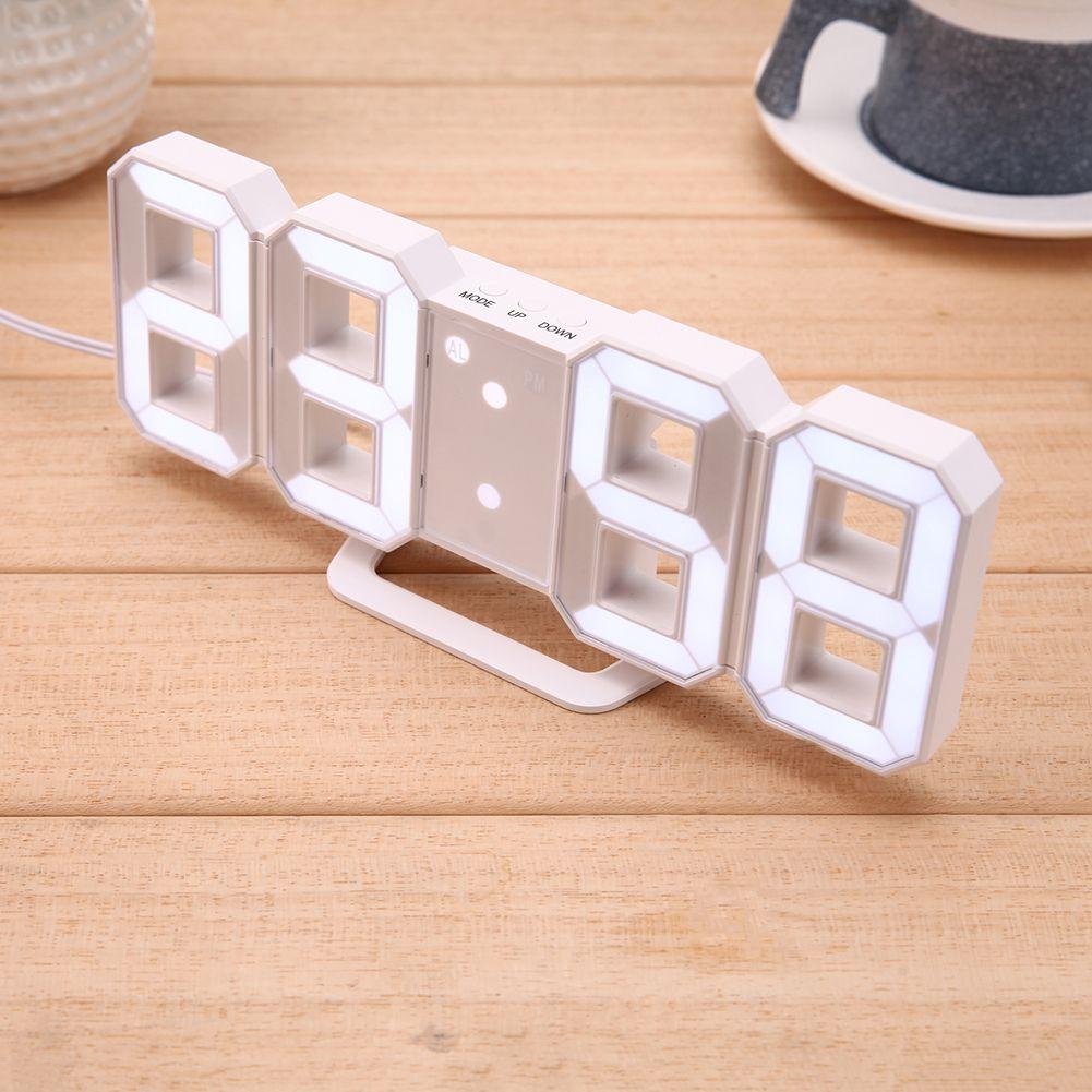 LED Alarm Clocks,<font><b>Desktop</b></font> Table Digital Watch LED Wall Clocks 24 or 12-Hour Display reloj Despertador Wall & Table Clock