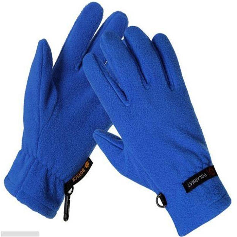 Winter Outdoor Riding light Fleece Gloves Fleece Windproof Warm Thermal Bike Sports Full Finger Unisex Cycling Travel Glove G089