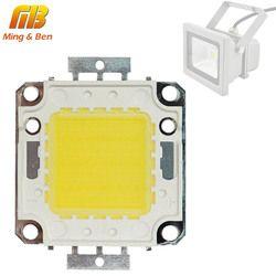 Светодиодный чип 10 Вт 20 Вт 30 Вт 50 Вт 70 Вт 100 Вт 30-32 в холодный белый теплый белый светодиодный бисер DIY для Светодиодный прожектор 45 * 45mil высоко...