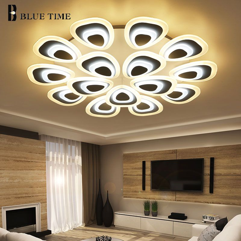 Living room Modern Led Ceiling Light Lustres AC110 220V Acrylic LED Ceiling Lamp For Bedroom Dining Study room Lampara de techo
