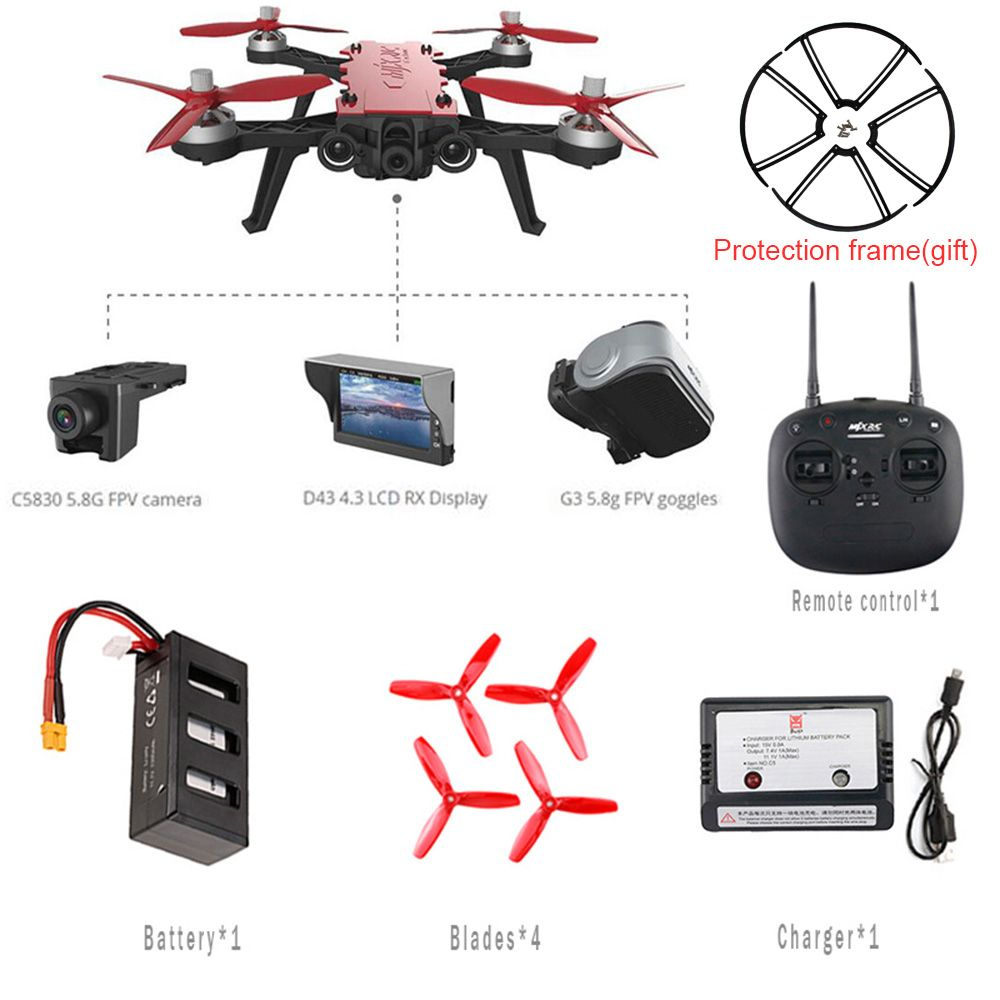 MJX Bugs 8 Pro B8PRO RC Helicopter Racing High Speed Motor Brushless RC Drone With 5.8G HD 720P Camera Quadcopter VS H502S Dron