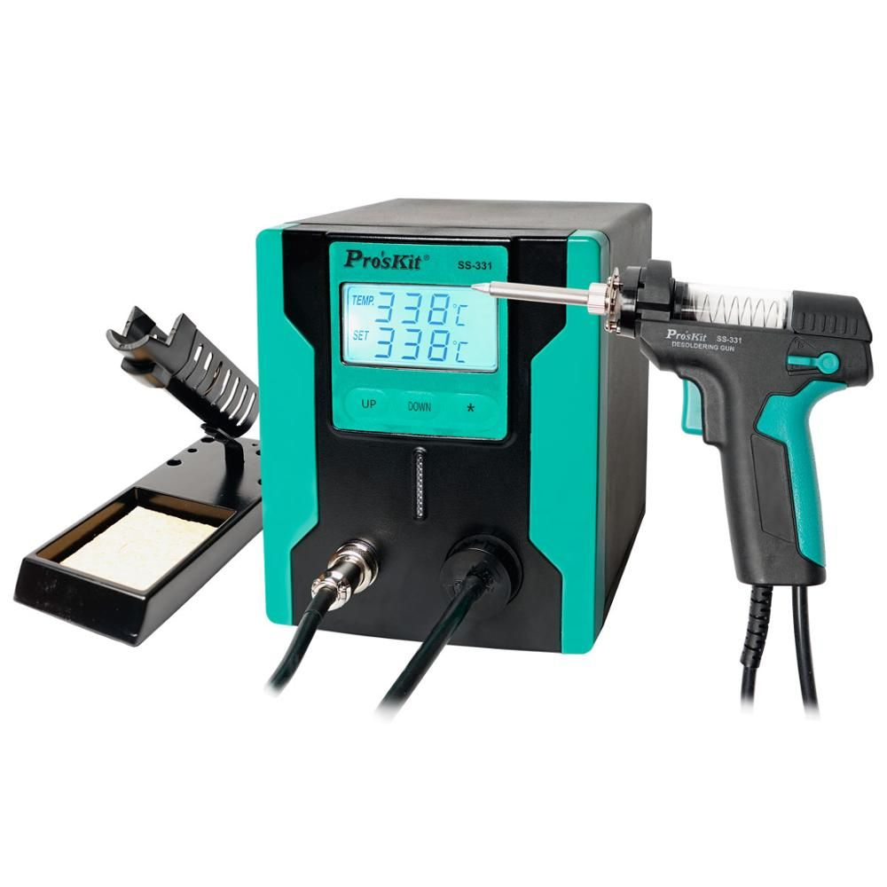 Pro'sKit SS-331H/331B LCD Elektrische Entlöten Pistole Vakuum Solder Sucker Lötkolben Gun Für PCB Board Löten Reparatur